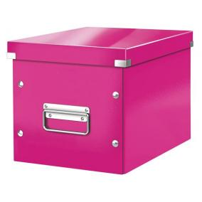 Tároló doboz, lakkfényű, M méret, LEITZ