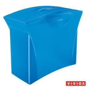 Függőmappa tároló, műanyag, 5 db függőmappával, mobil, ESSELTE