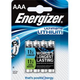 Elem, AAA mikro, 4 db, Lítium, ENERGIZER