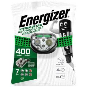 Fejlámpa, 4 LED, beépített akku, ENERGIZER
