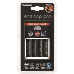Elemtöltő, AA ceruza, 4x2500 mAh AA, gyorstöltő, PANASONIC