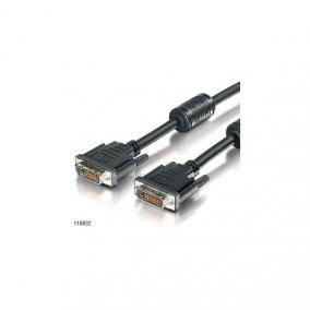 DVI-D Dual Link monitor kábel, 5 m, EQUIP
