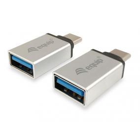 Adapter, USB-C-USB-A átalakító, 2 db, EQUIP