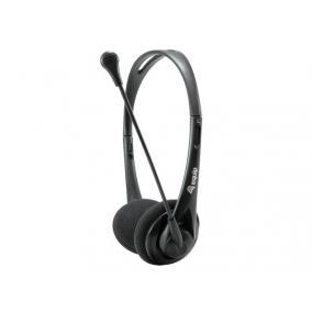 Fejhallgató, mikrofonnal, vezetékes, 3,5 mm jack, EQUIP