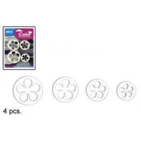 5 szirmos virág kiszúró szett (4db)