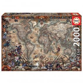 Educa Kalóztérkép puzzle, 2000 darabos