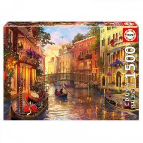 Educa Naplemente Velencében puzzle, 1500 darabos