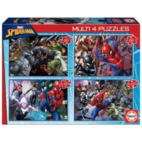 Educa Pókember és Venom puzzle, 4 az 1-ben