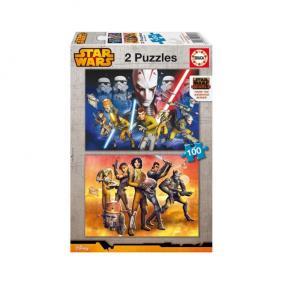 Educa Star Wars Rebels puzzle 2x100 darabos