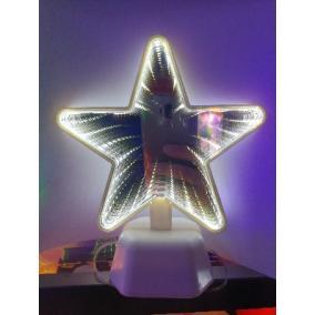 Éjszakai fény, 3D LED csillag tükörrel