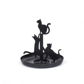 Ékszertartó állvány, macska, fekete