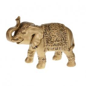 Elefánt álló kerámia 21 cm x 8 cm x 13,5 cm arany