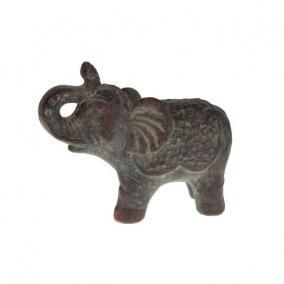 Elefánt álló kerámia 26 cm x 11,5 cm x 20,5 cm sötét szürke