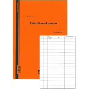 Előadói munkanapló 20x20lap C.5230-058