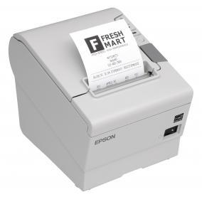 Epson TM-T88V blokknyomtató, vágó, USB + soros, fehér