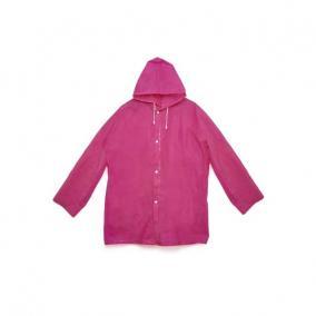 Esőkabát összecsomagolható, újrahasználható, rózsaszín