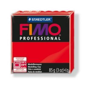 Gyurma, 85 g, égethető, FIMO Professional, piros