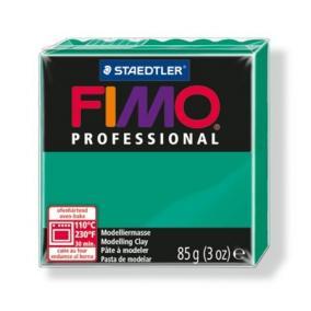Gyurma, 85 g, égethető, FIMO Professional, intenzív zöld