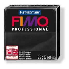 Gyurma, 85 g, égethető, FIMO Professional, fekete