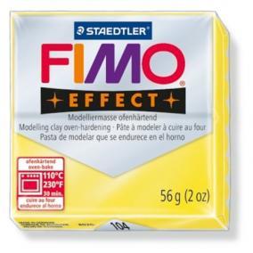 Gyurma, 56 g, égethető, FIMO Effect, áttetsző sárga