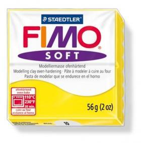 Gyurma, 56 g, égethető, FIMO Soft, citromsárga
