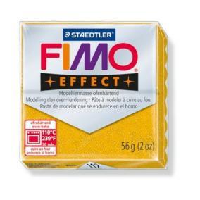 Gyurma, 56 g, égethető, FIMO Effect, csillámos arany