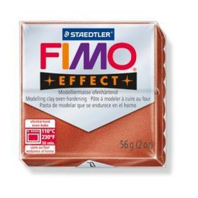 Gyurma, 56 g, égethető, FIMO Effect, metál vörösréz