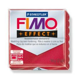 Gyurma, 56 g, égethető, FIMO Effect, metál rubin
