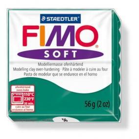 Gyurma, 56 g, égethető, FIMO Soft, smaragdzöld