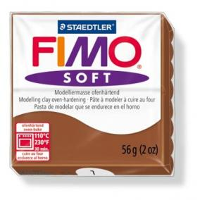 Gyurma, 56 g, égethető, FIMO Soft, karamell