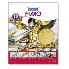 Metállap, 14x14 cm, FIMO, arany [10 lap]