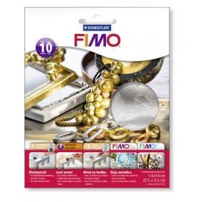 Metállap, 14x14 cm, FIMO, ezüst [10 lap]