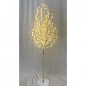 Fa gömb 300 LED világítással melegfehér műanyag 120 cm fehér