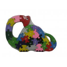 Fa puzzle dinoszaurusz