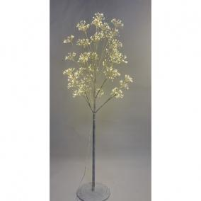 Fa virágos 1120 LED világítással melegfehér elektromos műanyag 150 cm fehér