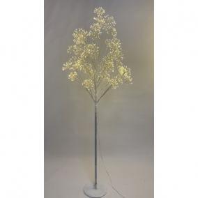 Fa virágos 1568 LED világítással melegfehér elektromos műanyag 180 cm fehér