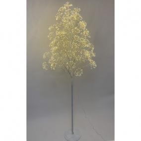 Fa virágos 2016 LED világítással melegfehér elektromos műanyag 210 cm fehér