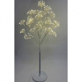 Fa virágos 896 LED világítással melegfehér elektromos műanyag 120 cm fehér