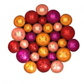 Fali dekor, kerek fém 100cm x 100cm x 10cm piros,rózsaszín,pink,narancs