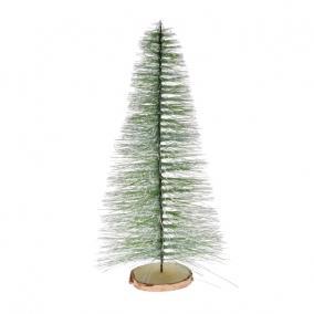 Fenyő dekoráció havas műanyag 37 cm világos zöld