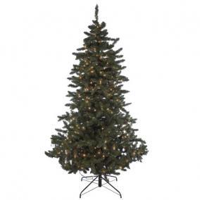 Fenyőfa Henry világítással műanyag 180cm/300Led zöld