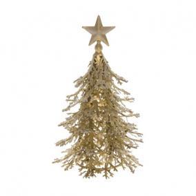 Fenyőfa fém 20x20x20cm arany