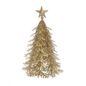 Fenyőfa fém 22x22x30cm arany