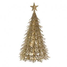 Fenyőfa fém 25x25x45cm arany