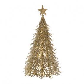 Fenyőfa fém 34x34x63cm arany