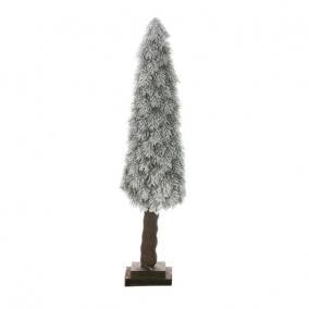 Fenyőfa havas fa talppal PE 100cm