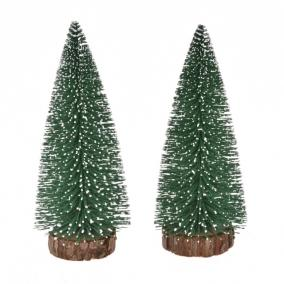 Fenyőfa havas műanyag 20cm zöld [2 db]