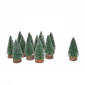 Fenyőfa havas műanyag 5cm zöld [12 db]