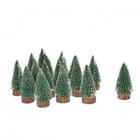 Fenyőfa havas műanyag 7cm zöld [12 db]