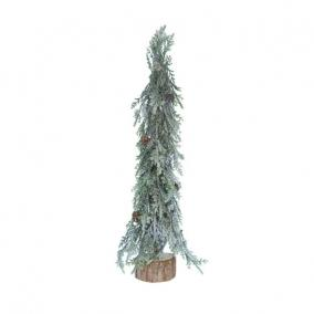 Fenyőfa jeges,tobozzal fa talppal PE 25cm